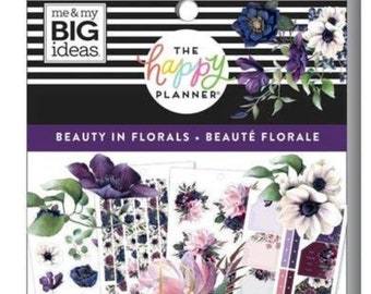 Beautiful florals  Sticker book 457 Create 365™ The Happy Planner™ Sticker value
