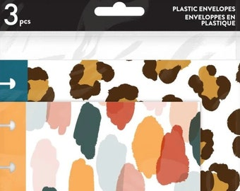 Leopard plastic pockets   pack by Me & My Big Ideas  365 The Happy Planner Enveloppes en Plastique