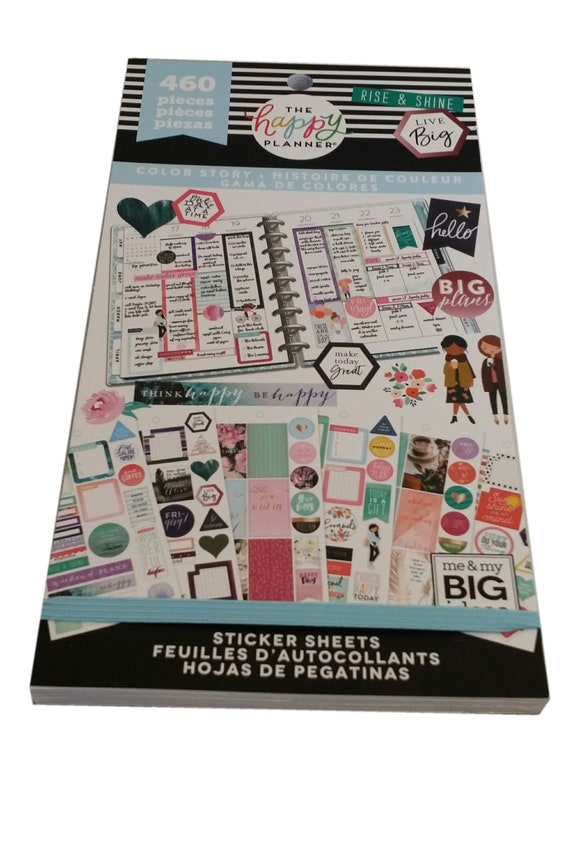 Create 365 The Big Happy Planner Sticker Sheets Rainbow Box Inspirational Quotes