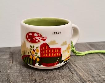 Yah ornament Italy ceramic collectable 2 oz Italien Starbucks Keramik Sammlerstück 60ml  Starbucks en céramique à collectionner 60ml