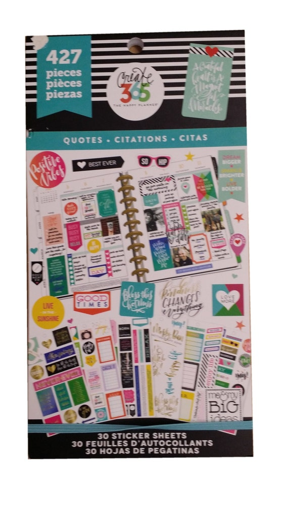 The Happy Planner Girl Faith Warrior Stickers Book 1010 pcs sticker sheets notes