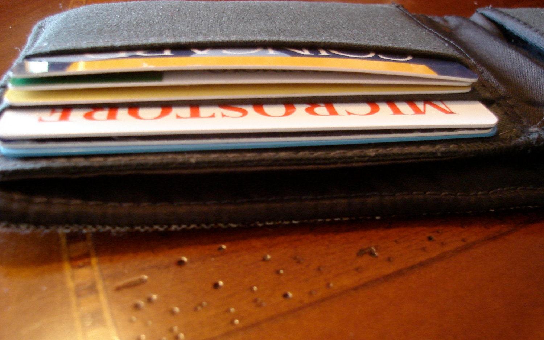 Grey tweed wool wallet - 7 pocket billfold - water resistant lining