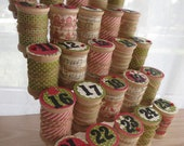 Advent Calendar - Wooden Spool Thread Holder  - Traditional Old Fashioned Holiday Countdown