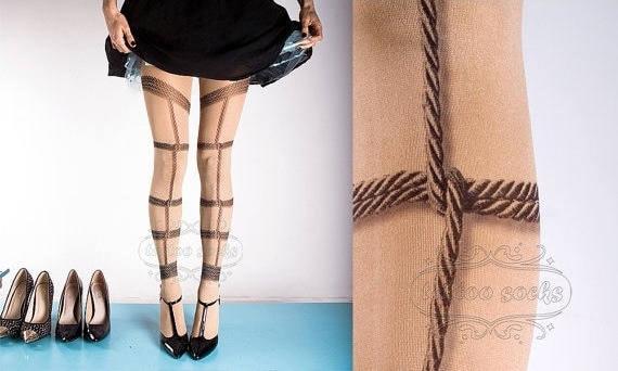 Strumpfhosen bondage