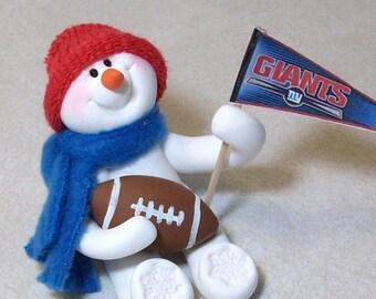 e313c69d6b4 New York Giants football snowman ornament