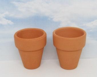 """Miniature terra cotta pots 2"""" tall"""