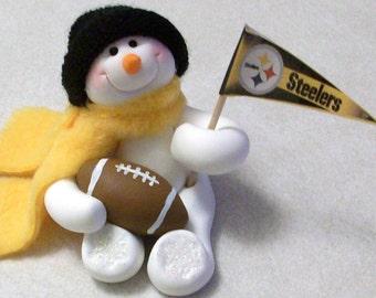 Pittsburg Steelers: snowman ornament