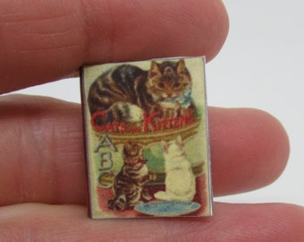 """Miniature book """"Cats and Kittens"""" 1:12"""