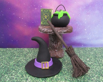 Miniature Witch's cooking potions set of 5