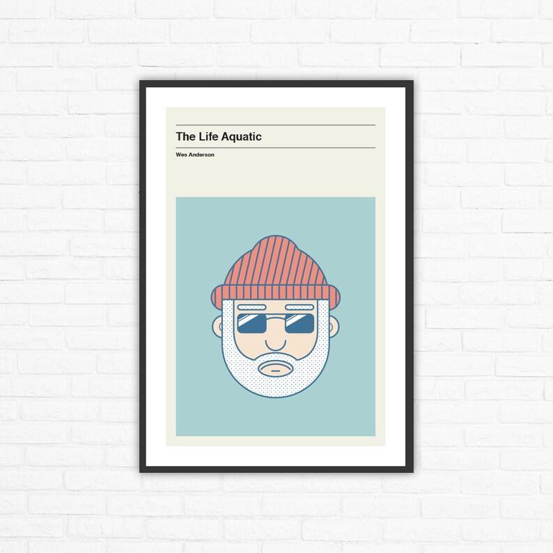 The Life Aquatic Steve Zissou Minimalist Movie Poster Wes image 0