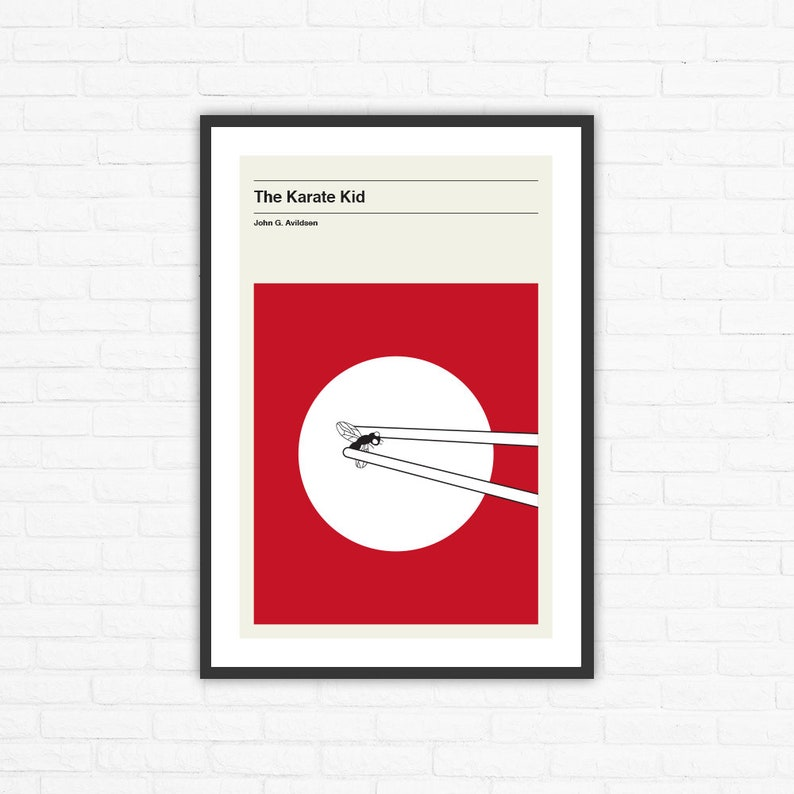 The Karate Kid Minimalist Mid Century Movie Poster John G. image 0