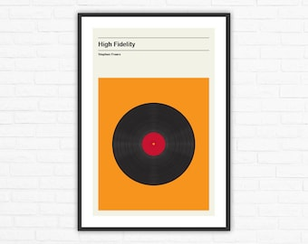 High Fidelity Minimalist Movie Poster, Stephen Frears