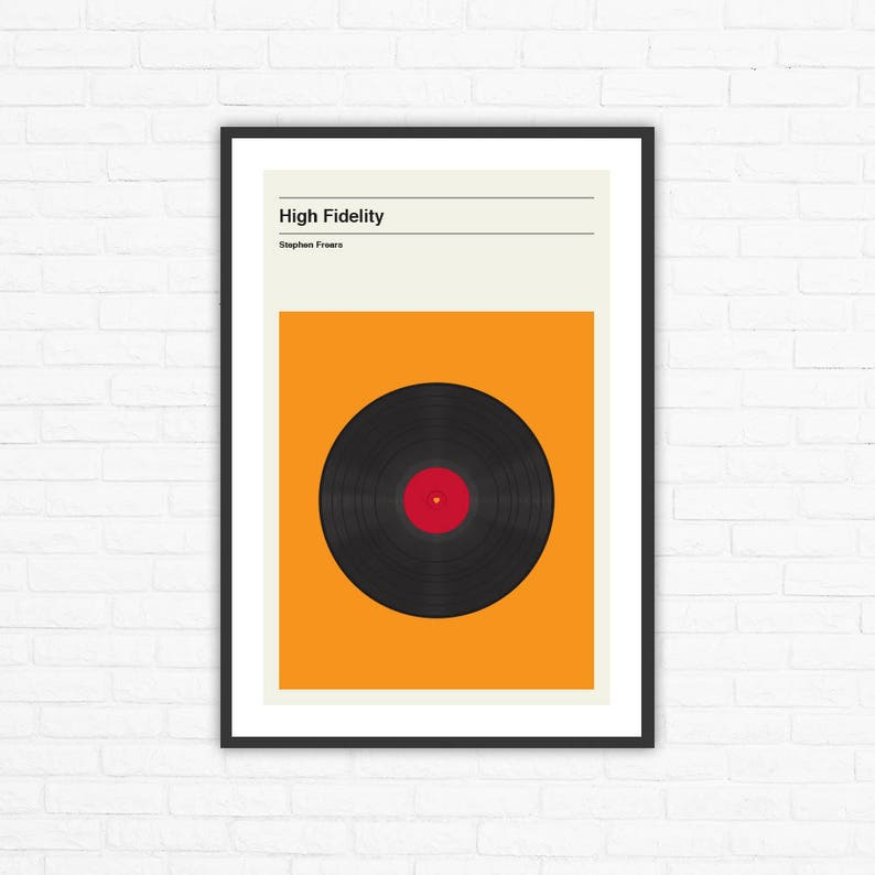 High Fidelity Minimalist Movie Poster Stephen Frears image 0