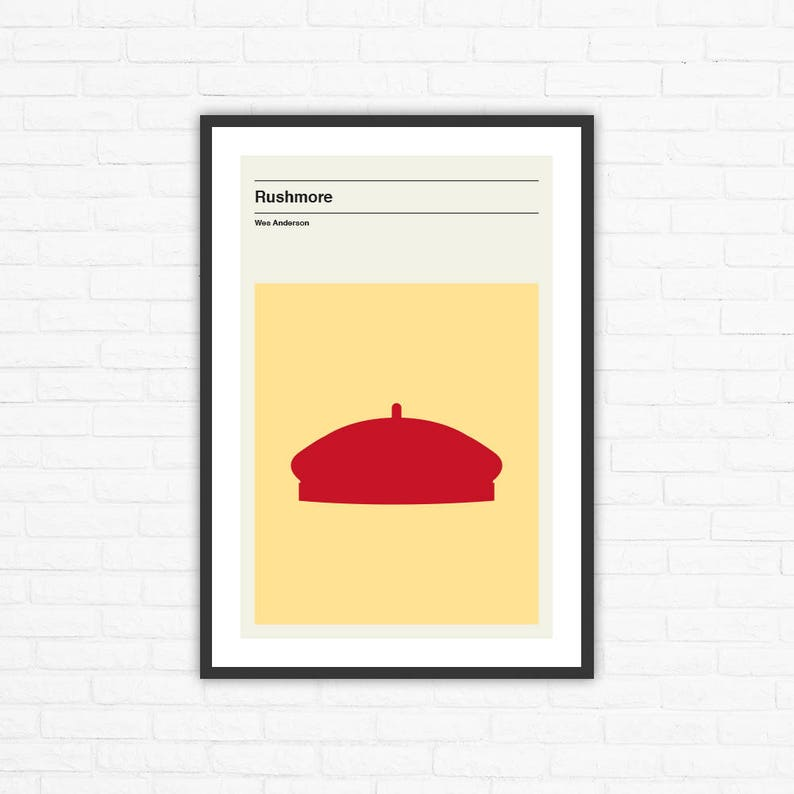 Wes Anderson Rushmore Minimalist Movie Poster image 0