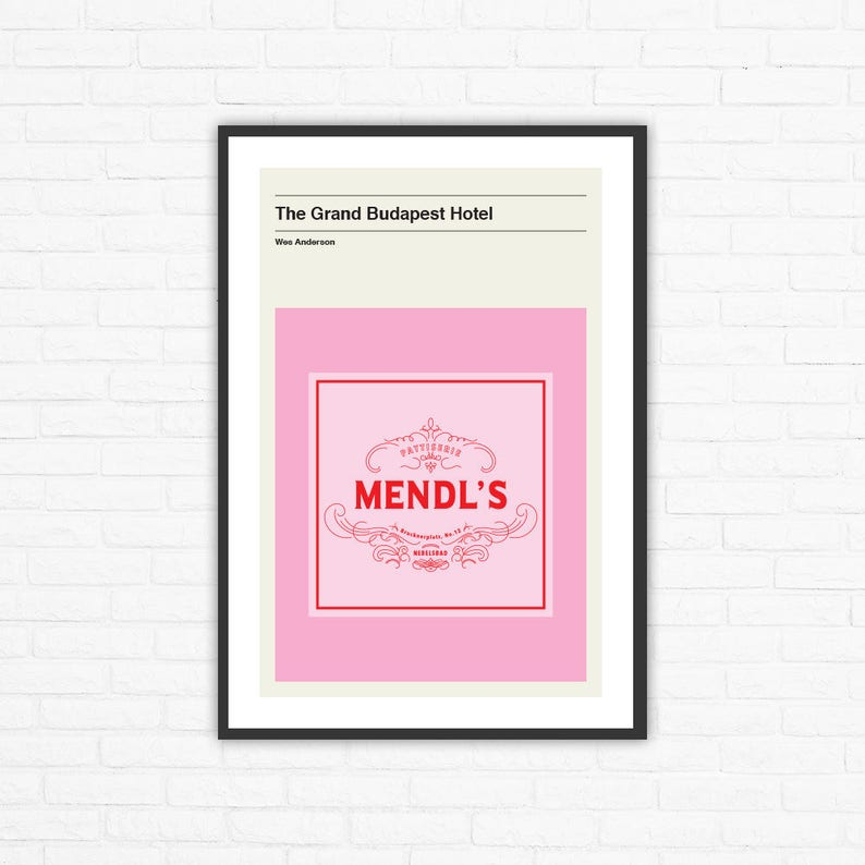 Wes Anderson The Grand Budapest Hotel Mendl's Box image 0