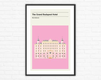 The Grand Budapest Hotel Minimalist Movie Poster, Wes Anderson
