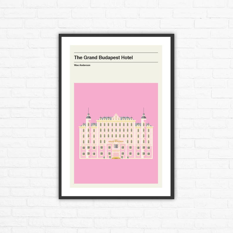Wes Anderson The Grand Budapest Hotel Minimalist Movie Poster image 0