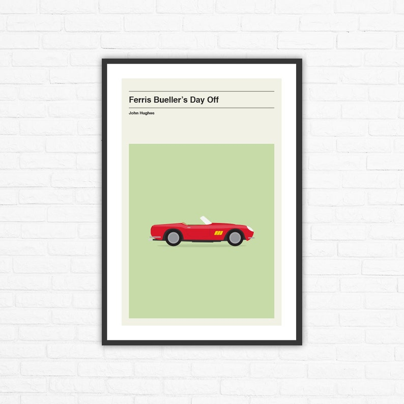 Ferris Bueller's Day Off Minimalist Movie Poster John image 0