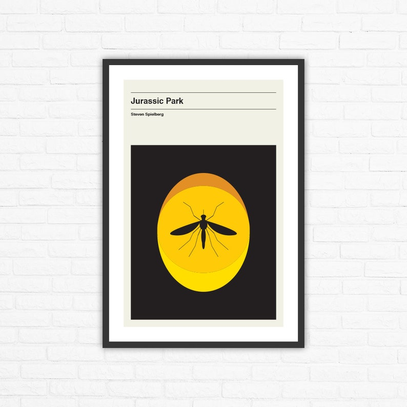 Jurassic Park Minimalist Mid Century Movie Poster Steven image 0