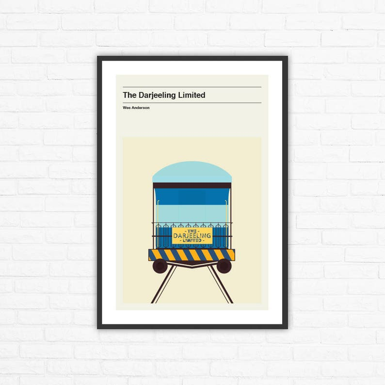 The Darjeeling Limited Minimalist Movie Poster Wes Anderson image 0