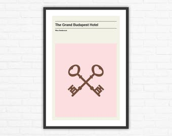 The Grand Budapest Hotel Keys Minimalist Movie Poster, Wes Anderson