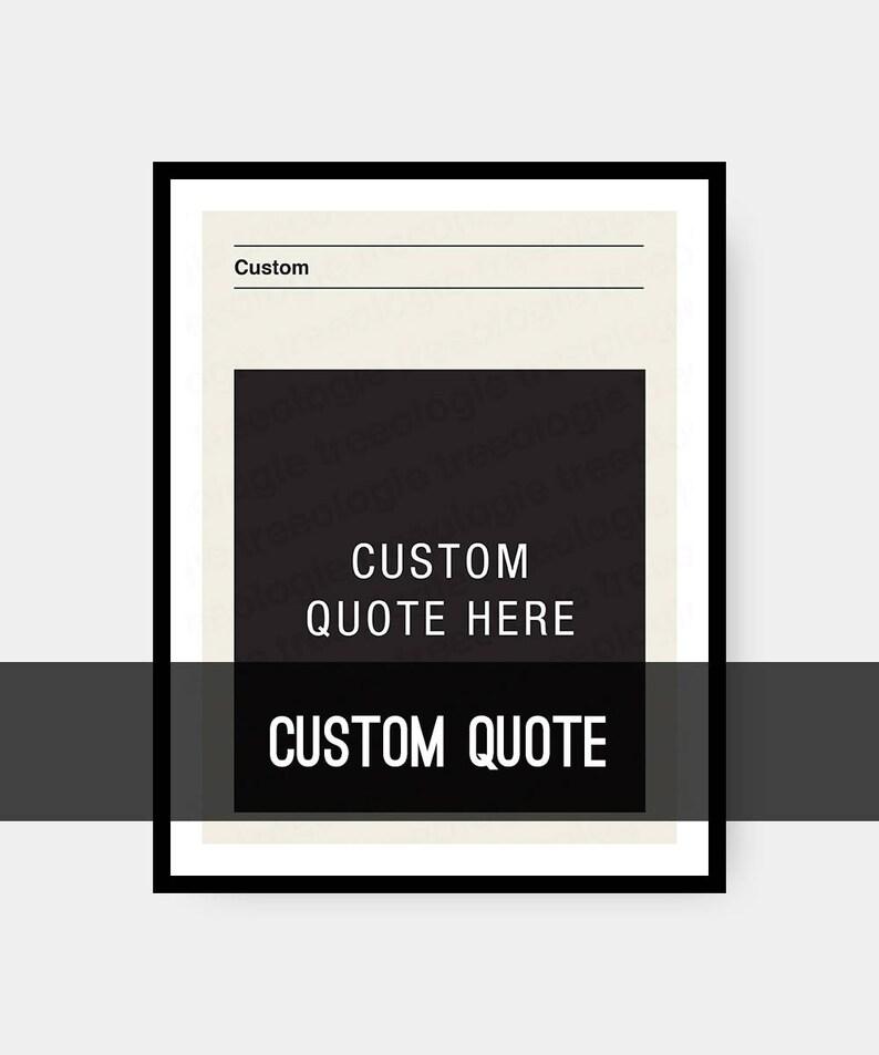 Custom Quote Wall Art Mid Century Retro Quote Prints Quote image 0