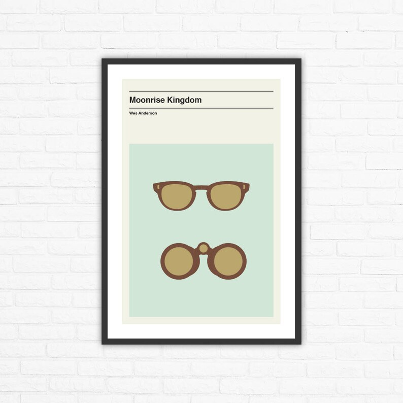 Wes Anderson Moonrise Kingdom Minimalist Movie Poster image 0