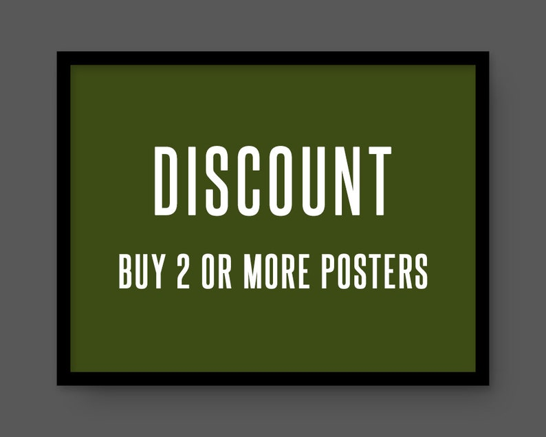 Receive a discount on 2 or more posters image 0