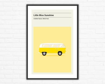Little Miss Sunshine Minimalist Movie Poster, Jonathan Dayton, Valerie Faris