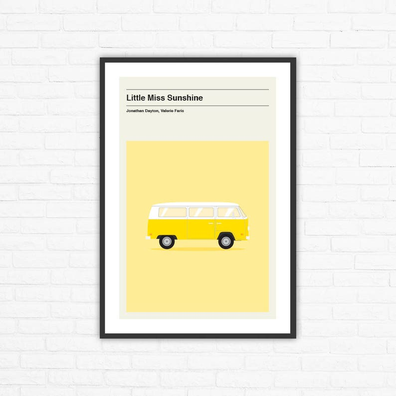 Little Miss Sunshine Minimalist Movie Poster Jonathan Dayton image 0