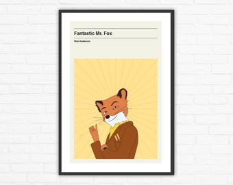 Fantastic Mr. Fox Minimalist Movie Poster, Wes Anderson