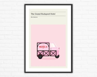 The Grand Budapest Hotel Mendl's Truck Minimalist Movie Poster, Wes Anderson