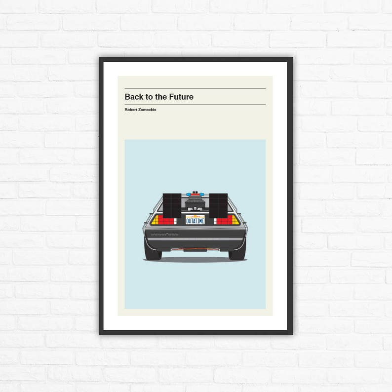 Back to the Future Minimalist Movie Poster Robert Zemeckis image 0