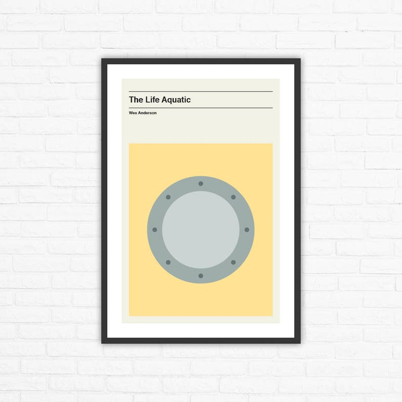 Wes Anderson The Life Aquatic Minimalist Movie Poster image 0