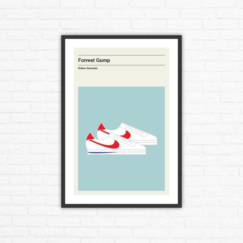 Forrest Gump Shoes Minimalist Mid Century Movie Poster Robert image 0