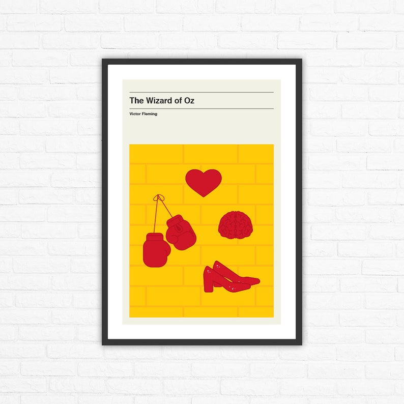 The Wizard of Oz Minimalist Mid Century Movie Poster Victor image 0