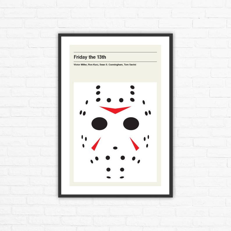 Friday the 13th Minimalist Movie Poster Victor Miller Ron image 0
