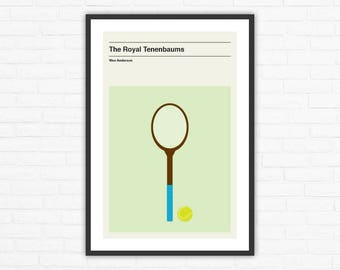 The Royal Tenenbaums Minimalist Movie Poster, Wes Anderson