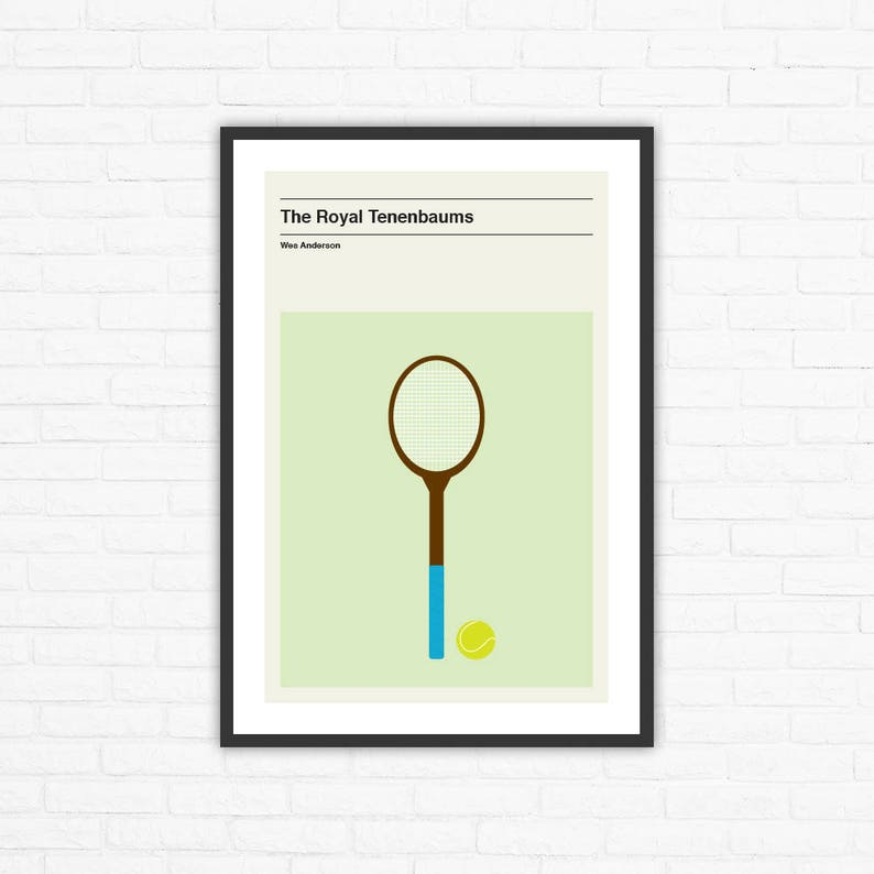 Wes Anderson The Royal Tenenbaums Minimalist Movie Poster image 0