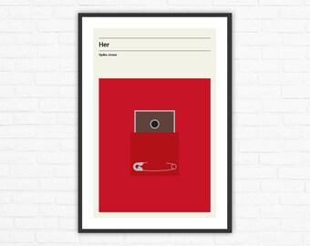 Her Minimalist Movie Poster, Spike Jonze