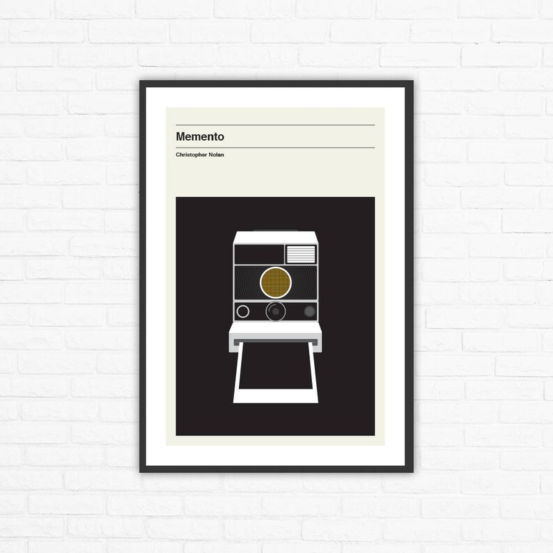 Memento Christopher Nolan Minimalist Movie Poster image 0