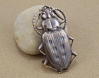 Beetle Belt Buckle - Solid Bronze - Lost Wax Cast - Bembidion Ground Beetle