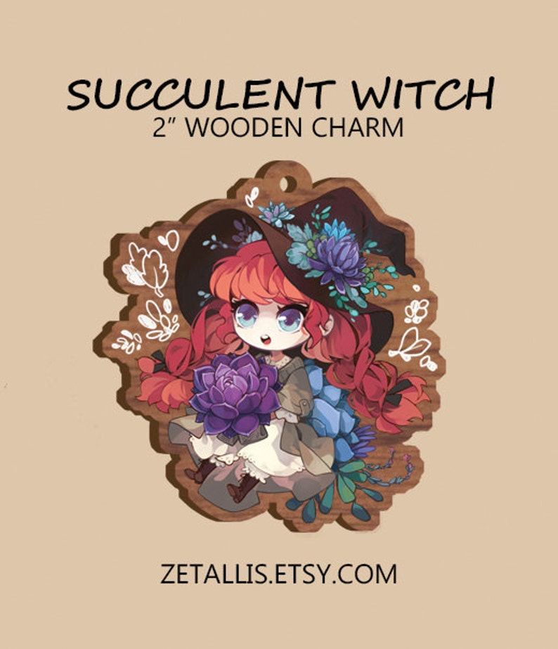 Charm Succulent Witch