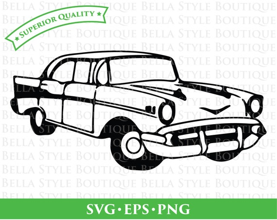 57 Chevy Bel Air Svg Png Eps Cut File Etsy