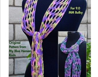 Serpentine Scarf - Machine Knit Pattern