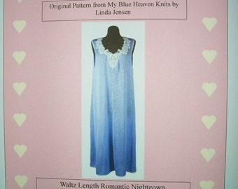 Romantic Nightgown - Machine Knit Pattern