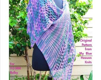 Serpentine Shawl - Machine Knit Pattern