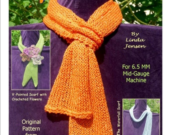 A Bevy Of Beautiful Scarves - Machine Knit Pattern