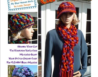 Hollywood Swag Cap and Scarf - Machine Knit Pattern