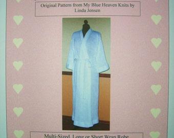 Wrap Robe - Machine Knit Pattern